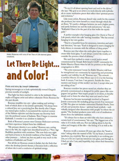 Jewish Life Article, May 2012