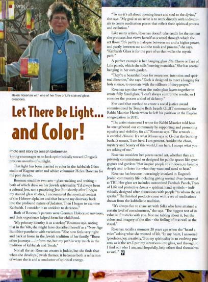 Jewish Life Article, May 2012